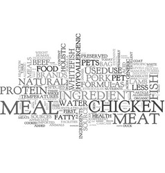 where s the meat in my pets food text word cloud vector image