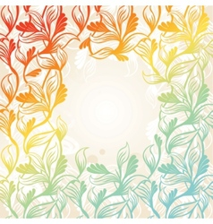 colored floral frame vector image vector image