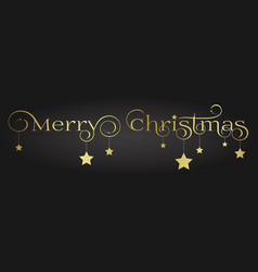 gold merry christmas lettering design with vector image vector image