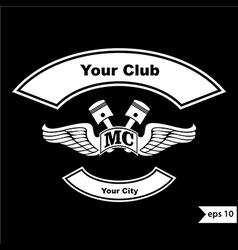 vintage motorcycle club design elements vector image vector image
