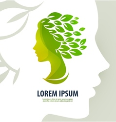 Woman profile beauty Logo icon sign emblem vector image vector image