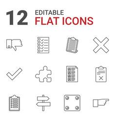 12 choice icons vector