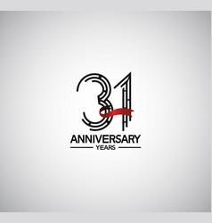 31 years anniversary logotype flat design vector