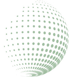 abstract globe with green halftone vector image