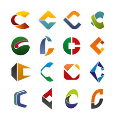 abstract letter c for business identity vector image