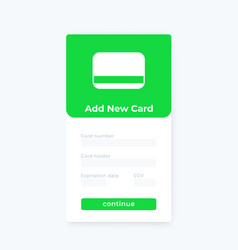 add new card mobile ui design vector image