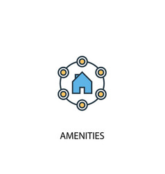 Amenities concept 2 colored line icon simple vector