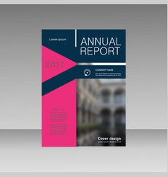 Annual report business magazine template vector image flashek Choice Image