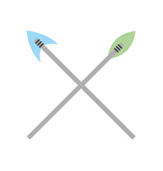 Antique arrows isolated icon vector