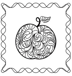 apple ontour black pattern in doodle style vector image