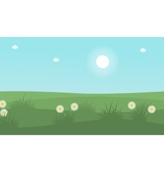 At spring beauty landscape vector