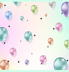 background with flying realistic balloons vector image