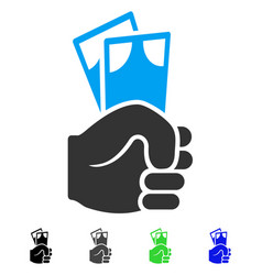 Banknotes salary hand flat icon vector