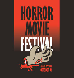 Banner for horror movie festival scary cinema vector