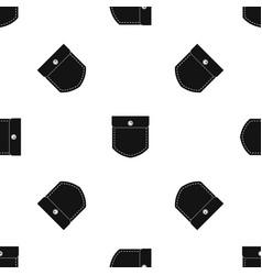 black jeans pocket pattern seamless black vector image