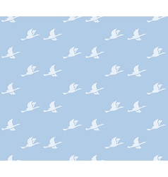 Blue background with birds - seamless pattern vector