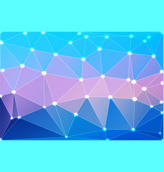 Blue shades pink geometric background with mesh vector