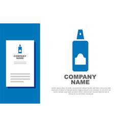 Blue spray can for hairspray deodorant vector