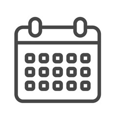 Calendar thin line icon vector