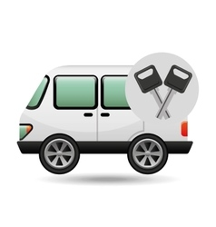 car van and keys icon graphic vector image