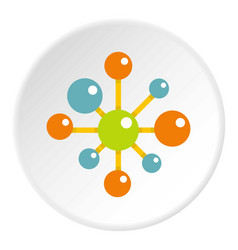 chemical and physical atoms icon circle vector image
