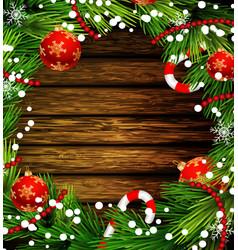 christmas design on wood vector image