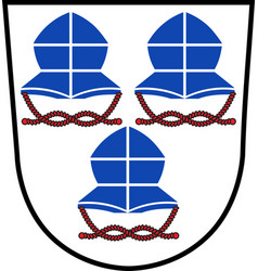 Coat of arms of landshut is a town in bavaria of vector
