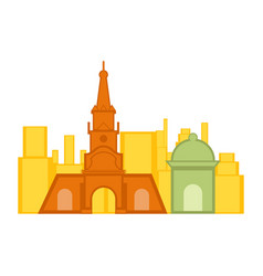 Colored cityscape of cartagena vector