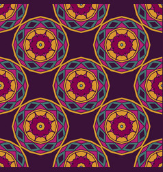 colorful abstract circles seamless pattern vector image