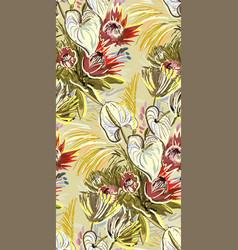 Colorful design flower art painting decoration vector