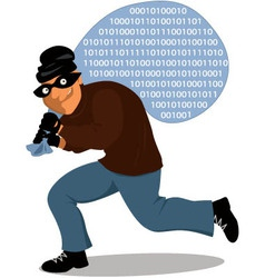 Computer crime vector image