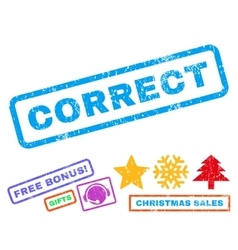 Correct Rubber Stamp vector