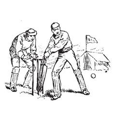 Cricket vintage vector