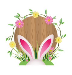 Cute rabbit ears cartoon vector