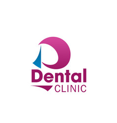 dental clinic icon for dentistry business card vector image