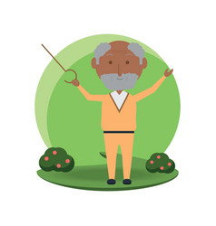 elderly man icon vector image