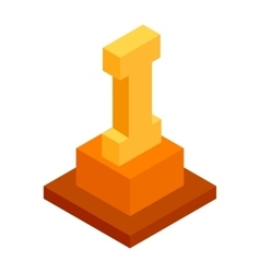 First place isometric 3d icon vector