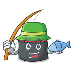 Fishing ikura mascot cartoon style vector
