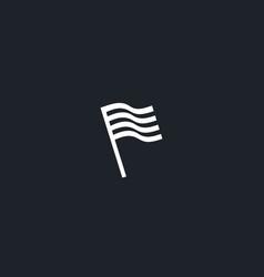 flag stripes logo design abstract modern minimal vector image