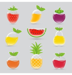 Fruit juice set vector image