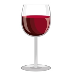 Glass of wine graphic vector
