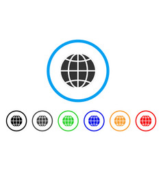 globe rounded icon vector image