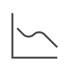 graph statistis icon vector image