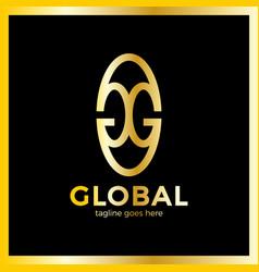 great global group logo vector image
