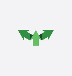 green arrows symbol logo sign icon element vector image