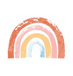 Hand drawn rainbow in cartoon vector