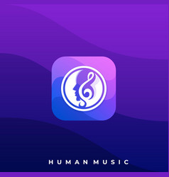 head music icon application template vector image