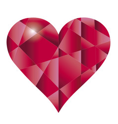 heart of red glass vector image