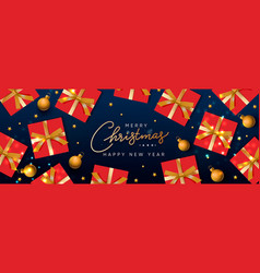 holiday sale banner christmas purple horizontal vector image