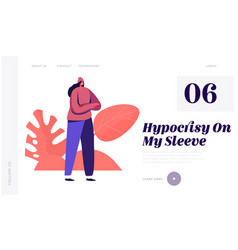 hypocrisy website landing page young fashionable vector image